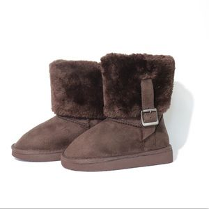 Chocolate Brown Girls Winter Boots
